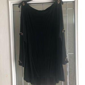 Cable & Gauge XL Black Open Sleeve Top